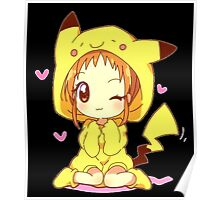 Anime Chibi - Pikachu Poster