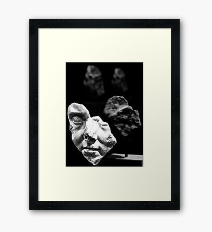 broken bust Framed Print