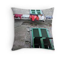 Hanging Out Above-Filetto, Italy Throw Pillow