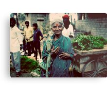 Lady at the markets Metal Print