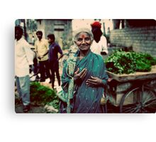Lady at the markets Canvas Print
