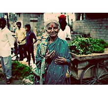 Lady at the markets Photographic Print