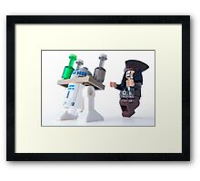 Call yourself a waiter, get back here with my rum Framed Print