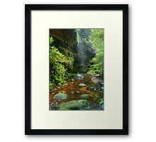 Misty waterspray into the Grand Canyon Framed Print