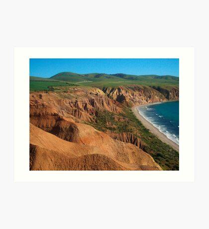 Sellick's Beach cliffs, Fleurieu Peninsula Art Print