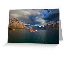 Lake Minnewanka, Banff Canada Greeting Card