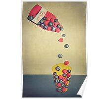 Fruits on paper  Poster