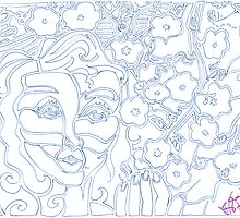 'Alight with Blossom ~ The Blueprints' Pieces Art™ by Kayla Napua Kong