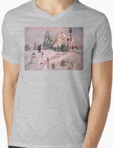 Snowy Hollow Mens V-Neck T-Shirt