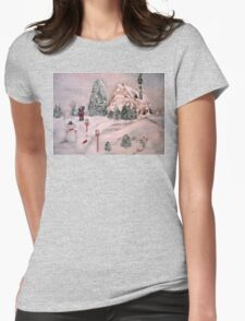 Snowy Hollow Womens Fitted T-Shirt