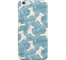 Figure skating pattern iPhone Case/Skin