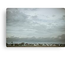 little houses, big sky Canvas Print