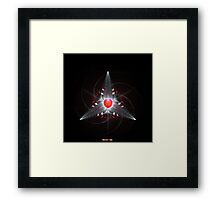 Star Red Crown - The Heart Of Love Framed Print