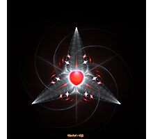 Star Red Crown - The Heart Of Love Photographic Print