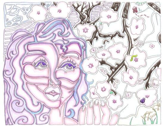 'Alight with Blossom ~ Pure Glow' Pieces Art™ by Kayla Napua Kong