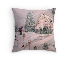 Snowy Hollow Throw Pillow