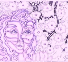 'Alight with Blossom ~ Intended Purple' Pieces Art™ by Kayla Napua Kong