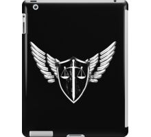Scales and sword balance. Shield and wings.  iPad Case/Skin