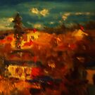 Over the rooftops Castlemaine VIC Australia by Margaret Morgan (Watkins)