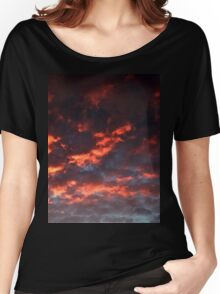 October Sunset (2456) Women's Relaxed Fit T-Shirt