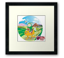 Zelda Adventure of Time Framed Print