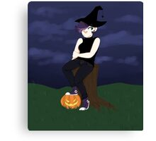 spooky witch lady Canvas Print