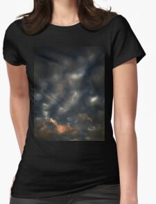 October Sunset (2364) Womens Fitted T-Shirt