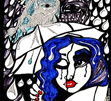 'Rain On Me In The Blackground ~ Glitter in the Dark' Pieces Art™ by Kayla Napua Kong