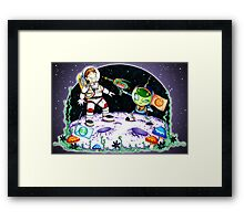 Space Encounter Framed Print
