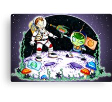 Space Encounter Canvas Print