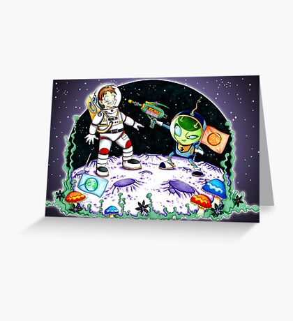 Space Encounter Greeting Card
