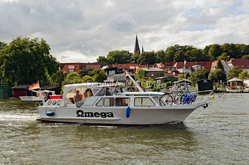 MVP103 Boating through Malchow, Germany. by David A. L. Davies