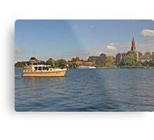 MVP104 Boating at Malchow, Germany. Metal Print