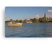 MVP104 Boating at Malchow, Germany. Canvas Print