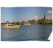 MVP104 Boating at Malchow, Germany. Poster