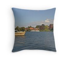 MVP104 Boating at Malchow, Germany. Throw Pillow