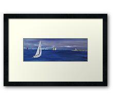 Sailing week Framed Print