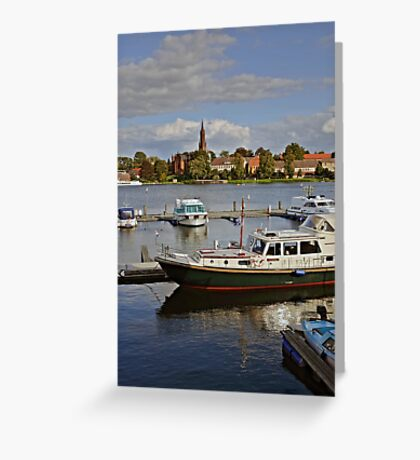 MVP105 Malchow Harbour, Germany. Greeting Card
