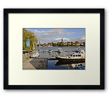 MVP106 Malchow Harbour, Germany. Framed Print