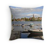 MVP106 Malchow Harbour, Germany. Throw Pillow