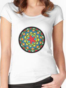 Flower Mandela Women's Fitted Scoop T-Shirt