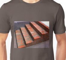 The steps of a new red brick staircase Unisex T-Shirt