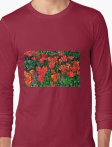Abstract Tulips Long Sleeve T-Shirt