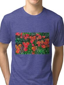 Abstract Tulips Tri-blend T-Shirt