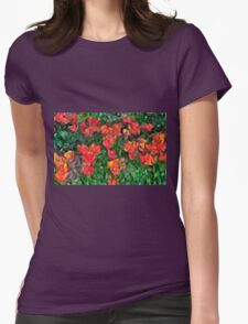 Abstract Tulips Womens Fitted T-Shirt