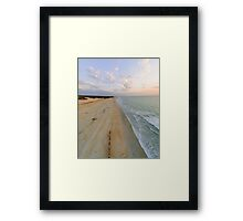cable beach areal  Framed Print