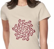 Ring of Hearts Womens Fitted T-Shirt
