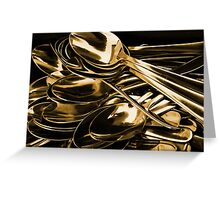 Golden Spoon Greeting Card