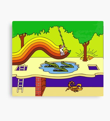Pitfall Canvas Print
