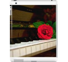 ROMANTIC RED ROSE FLOWER ON PIANO iPad Case/Skin